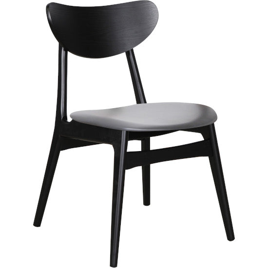 Fin Black chair charcoal seat