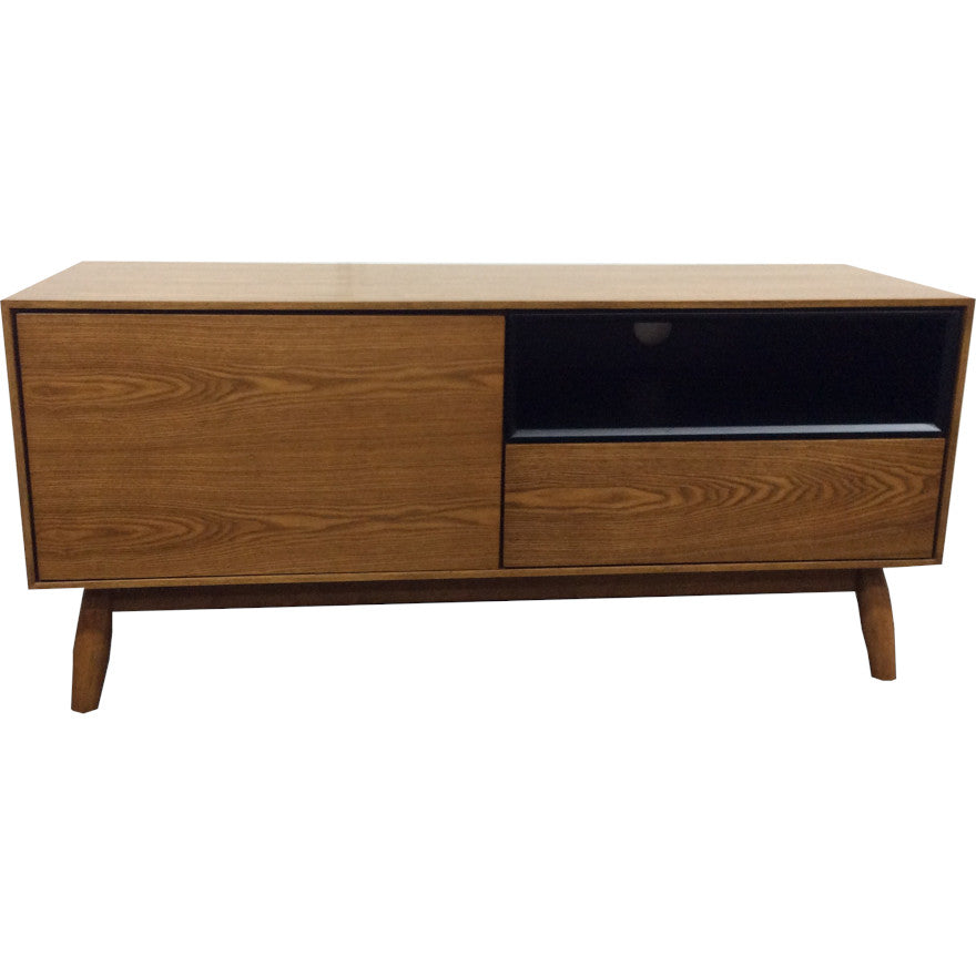 Fin TV Unit 115 cm (Teak Finish)