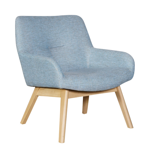 Fusion Accent Chair - Blue Natural Wash Fabric
