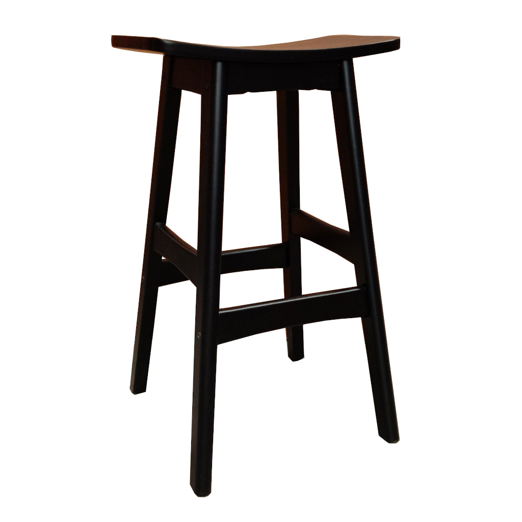 Gudena Counter Barstool - All Black timber