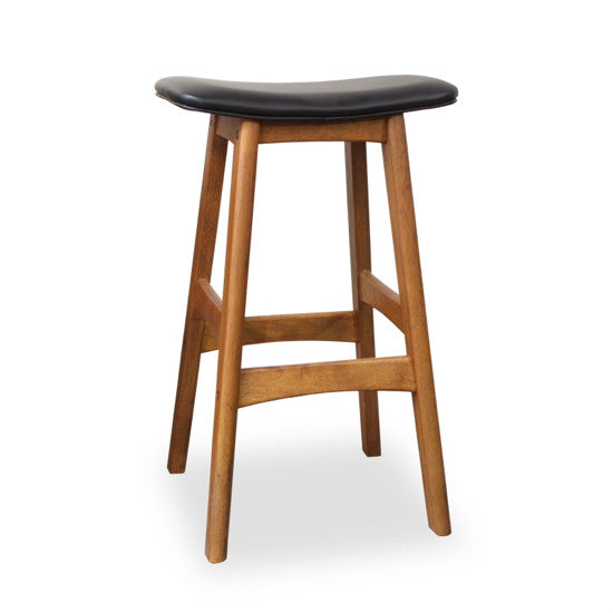 Bohemio Furniture Online Store - Gudena Kitchen Stool - Teak (Black)