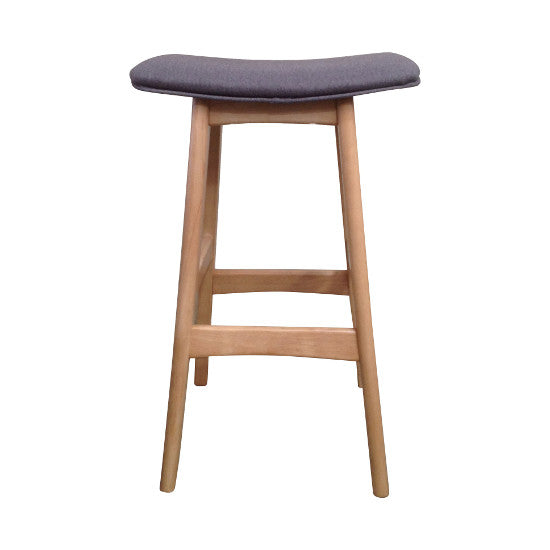 Gudena Counter Barstool - Natural (Grey Fabric)