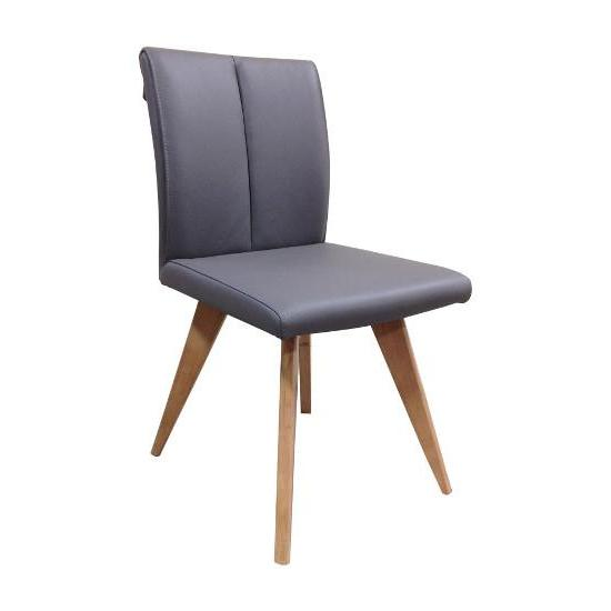 Hendriks Leather Chair (Charcoal LEATHER/Natural Legs)