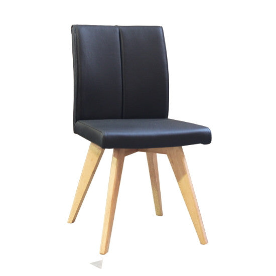 Hendriks Leather Chair (Black/Natural)