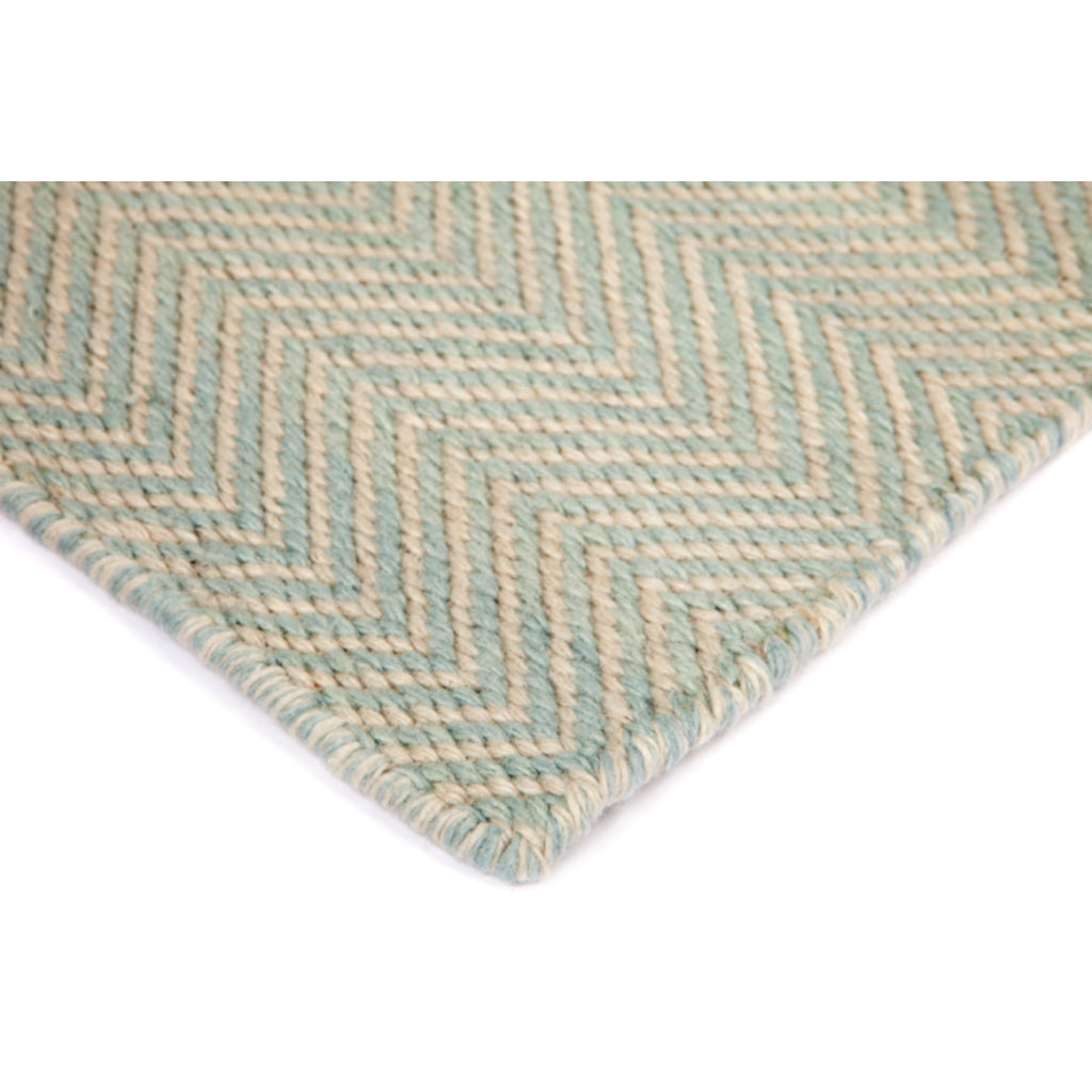 Herringbone Light Blue P.E.T. Rug