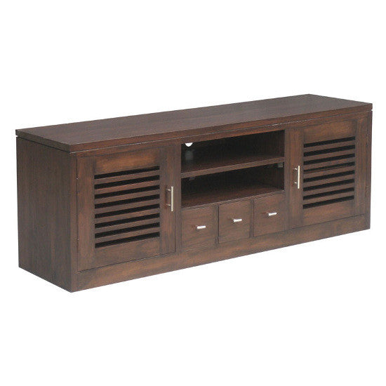 Holland 2 Door 3 Drawer TV Unit (Chocolate)