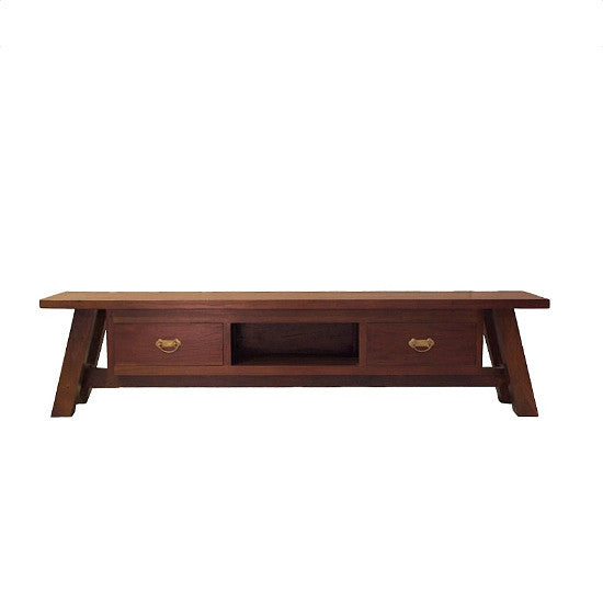 Japanese 2 Drawer TV Unit (Light)