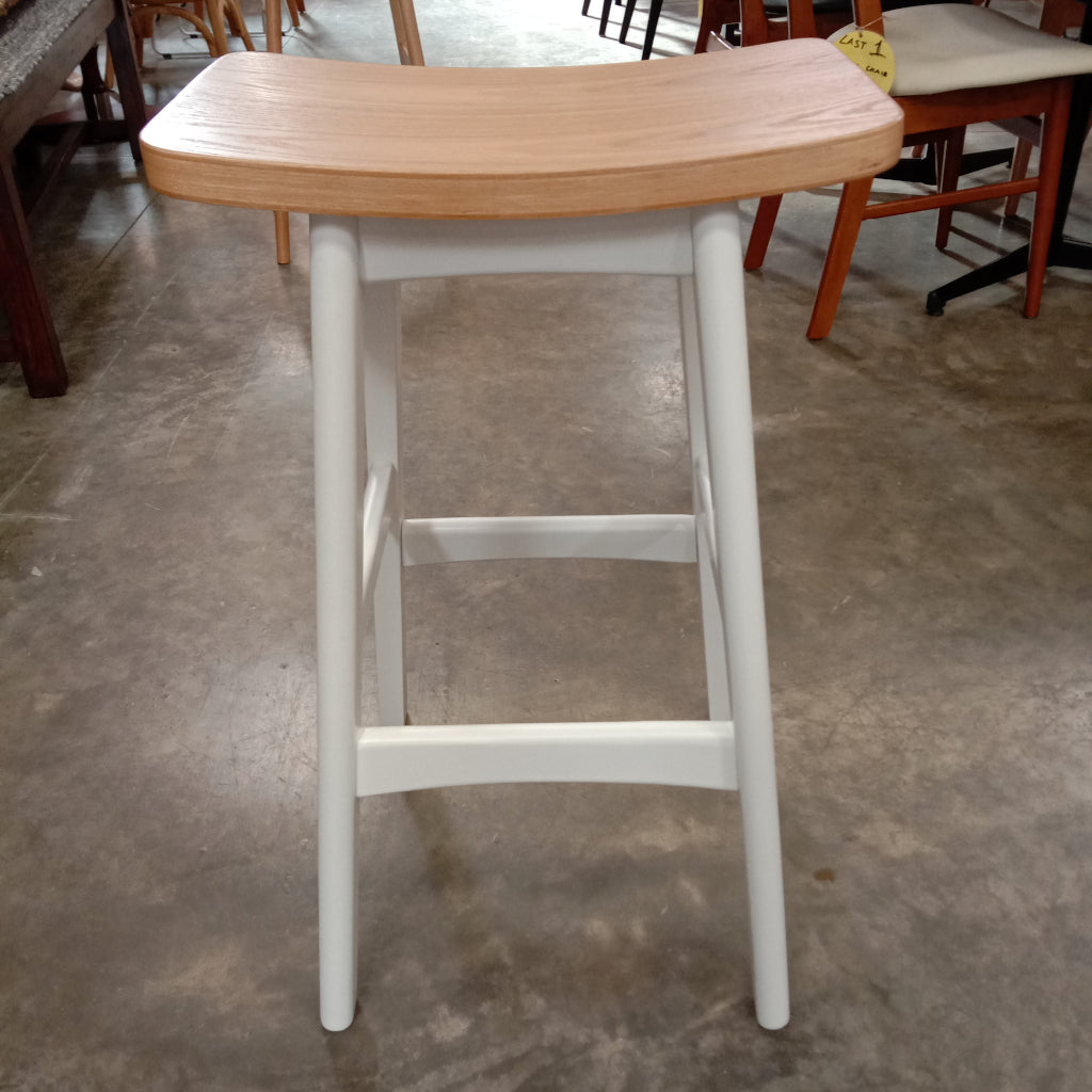 Limited Gudena Counter Barstool - White / Natural