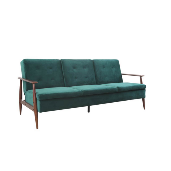 Lindy Sofa Bed Click Clack in Emerald (Green)
