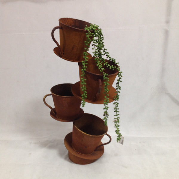 Mad Hatters Cup & Saucer Tower Planters