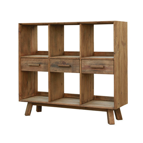 Manny 3 Drawer Oregon Shelf Sideboard