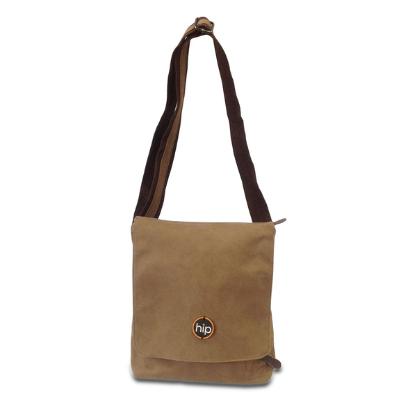 Messenger Cross Body Sling Bag Brown