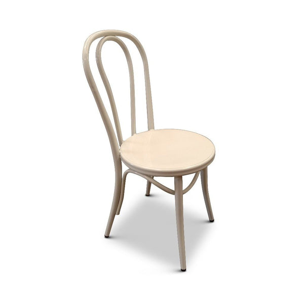 Metal Bentwood Dining Chair (White)