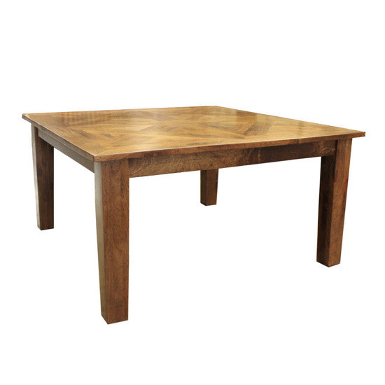 Bohemio Furniture Online Store - Monsoon Dining Table Parquetry Top 150cm x 150cm