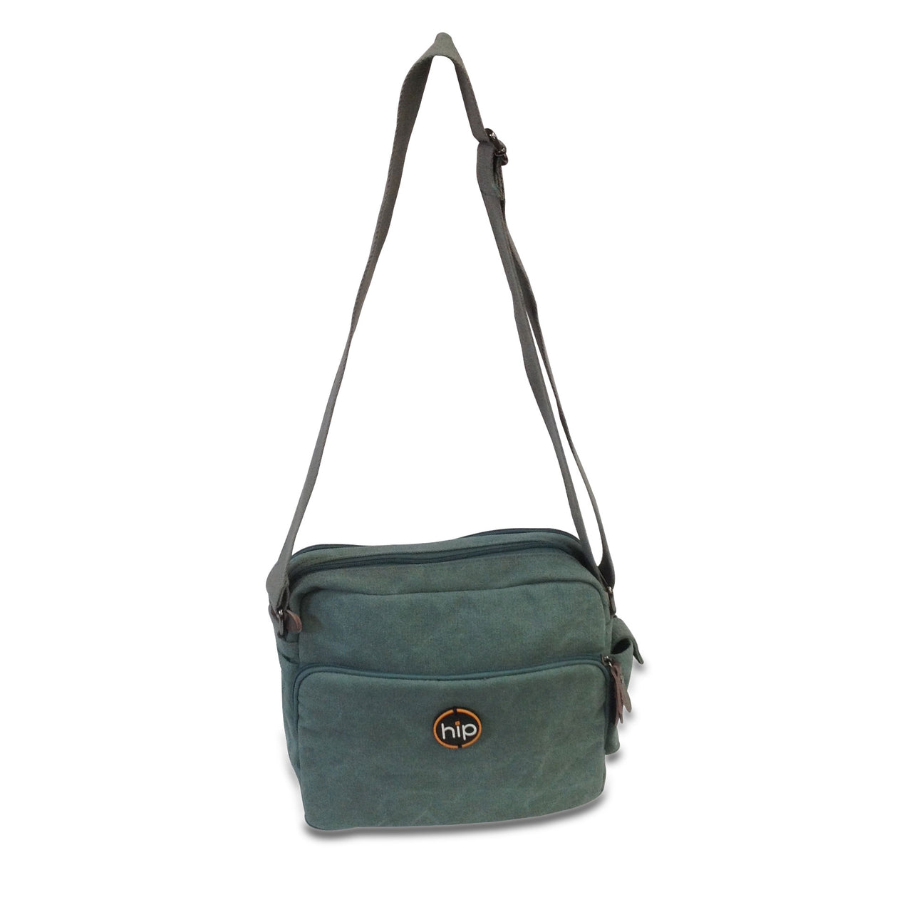 Multi Task Messenger Cross Body Sling Bag Light Green