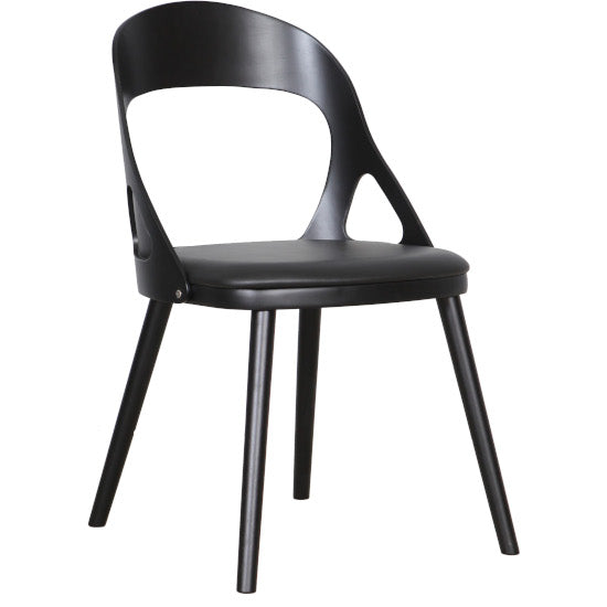Oslo Dining Chair Black Timber, Black PU