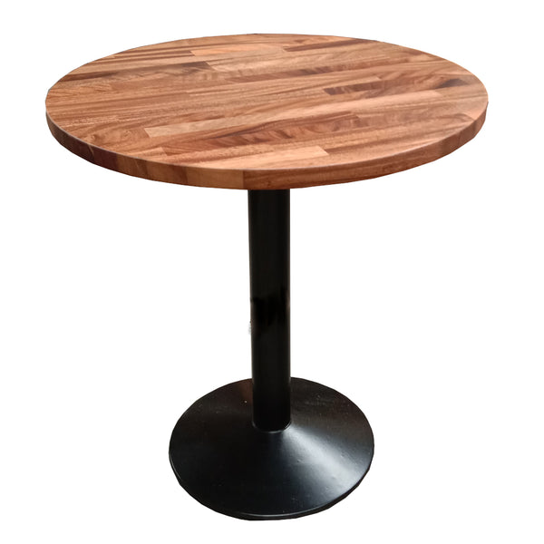 Round Walnut Raffed Café Table