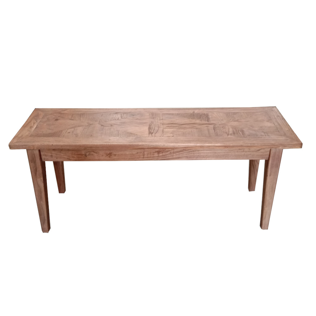 Recycled Elm Parquetry Bench