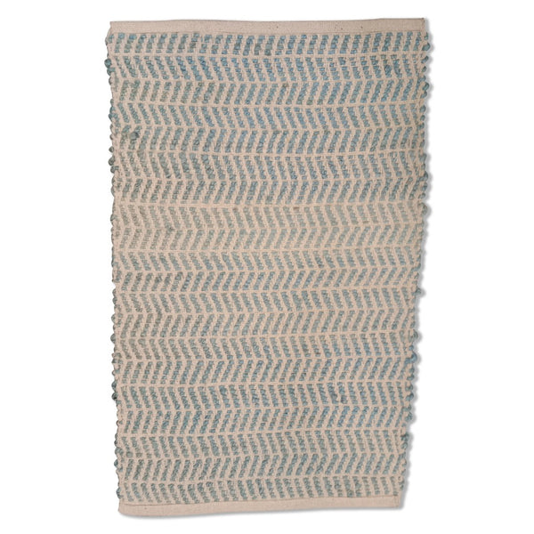 Jute Padel Rug 60cm x 90cm - Light Blue