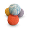 Plaited Pouf Ottoman Footstool- Orange
