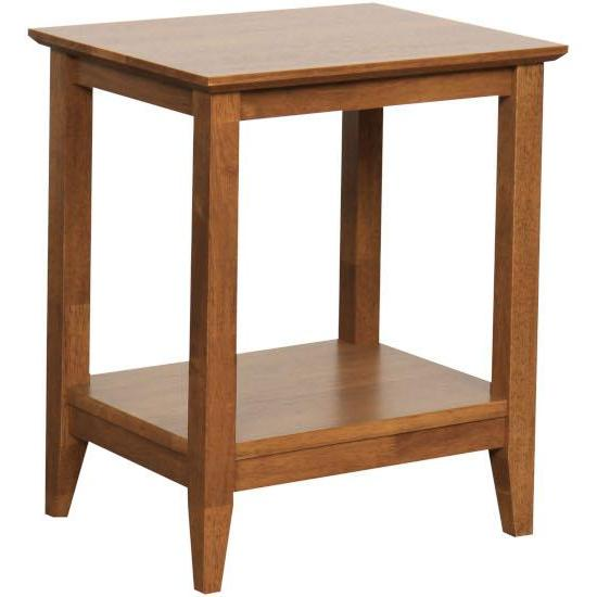 Quad Rectangle Lamp Table Teak finish