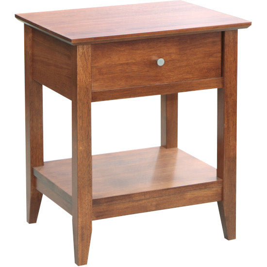 Quad Bedside Table Teak finish
