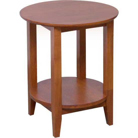 Quad Round Lamp Table Teak finish