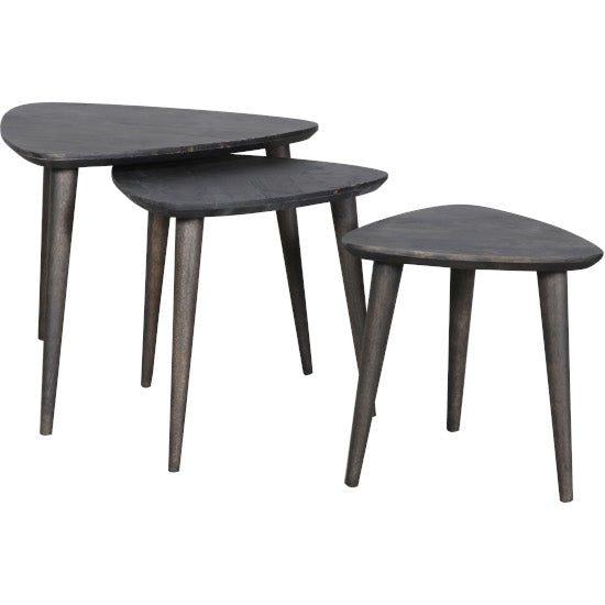 Scania Nest of Tables Black Wash