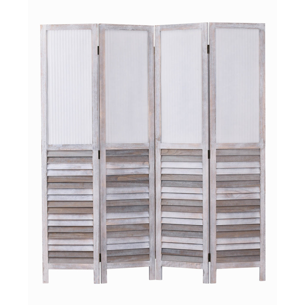 Beach House 4 Panel Screen Room Divider