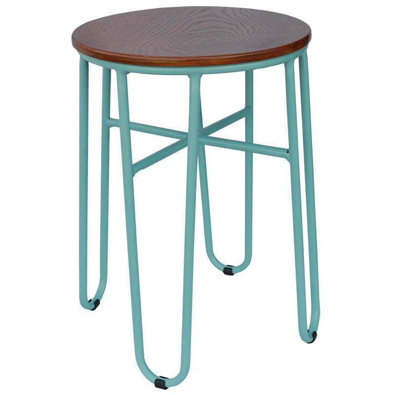 Skaf Dining Stool (Aqua Gloss)