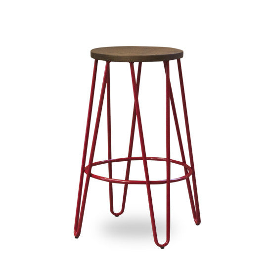 Bohemio Furniture Online Store - Skaf Kitchen Stool Hairpin Legs Red