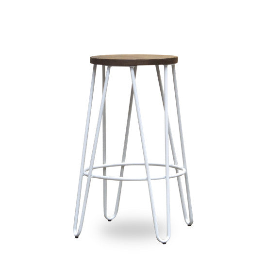 Bohemio Furniture Online Store - Skaf Kitchen Stool Hairpin Legs (White)