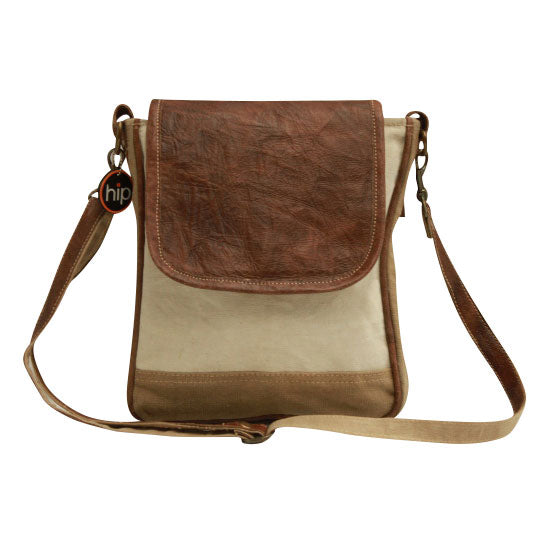 Leather Flap Sling Bag