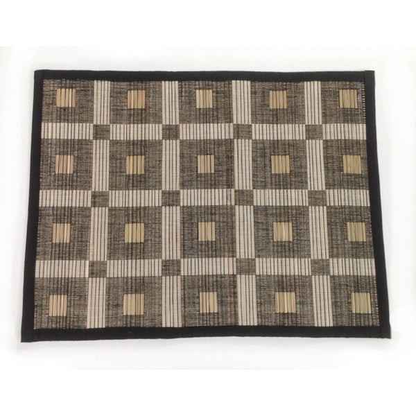 Set of 6 Squares Cotton Table Mats