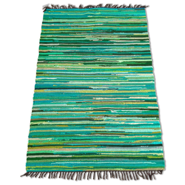 Cotton Chindi Green Tonal Rug - 120cm x 180cm