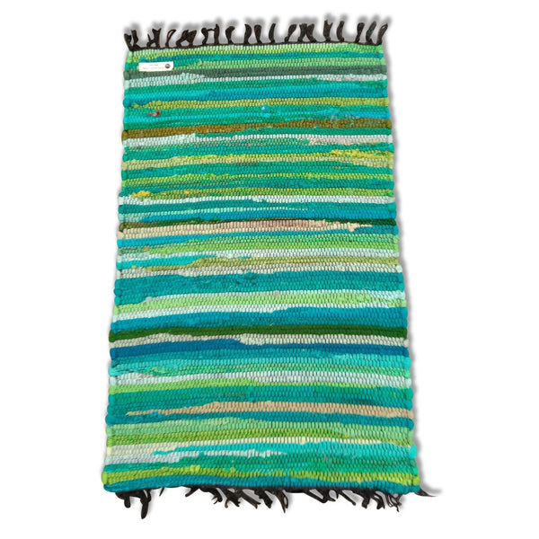Cotton Chindi Sea Green Tonal Rug Mat 50 x 80 cm