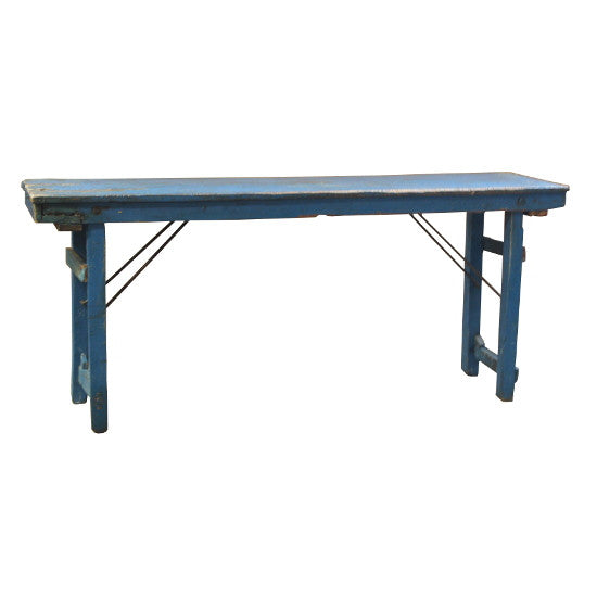 Vintage Banquet Table (Blue)
