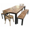 Recycled Elm & Wrought Iron Dining Table (160cm)