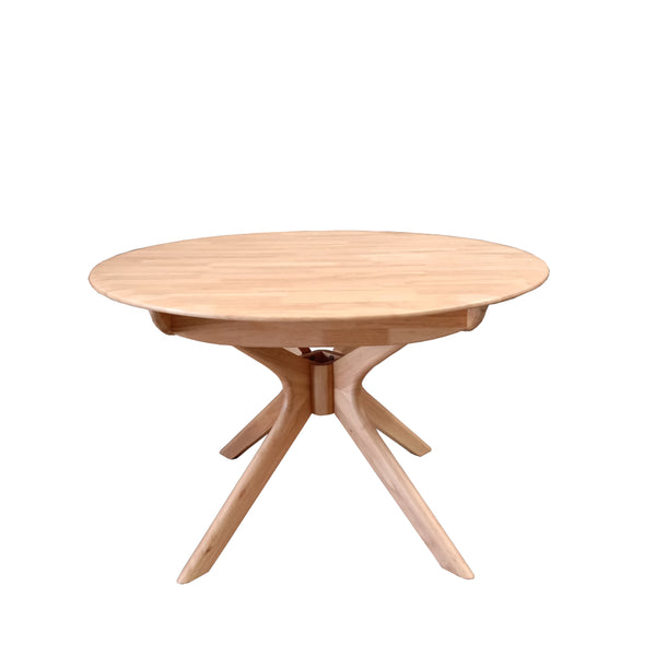 York Butterfly Extension Round Dining Table Natural