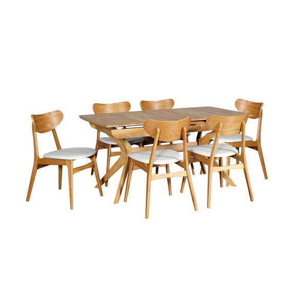 York Butterfly Extension Rectangle Dining Table Natural