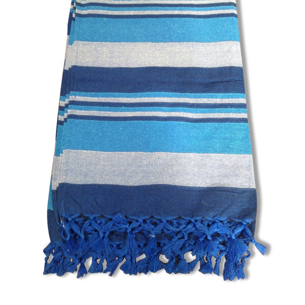 Cotton Throw Rug - Blue