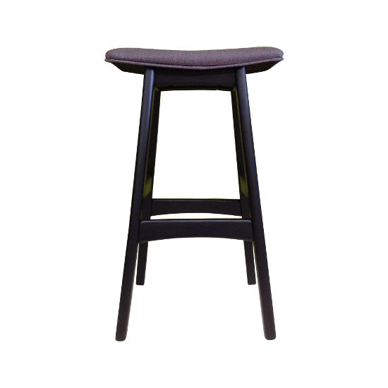 Gudena Counter Barstool - Black (Grey Fabric)