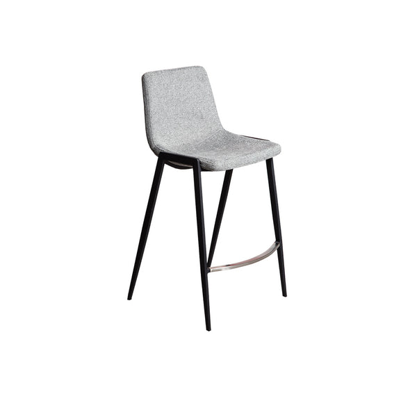 Hudson Counter Bar Stool (Grey Fabric)