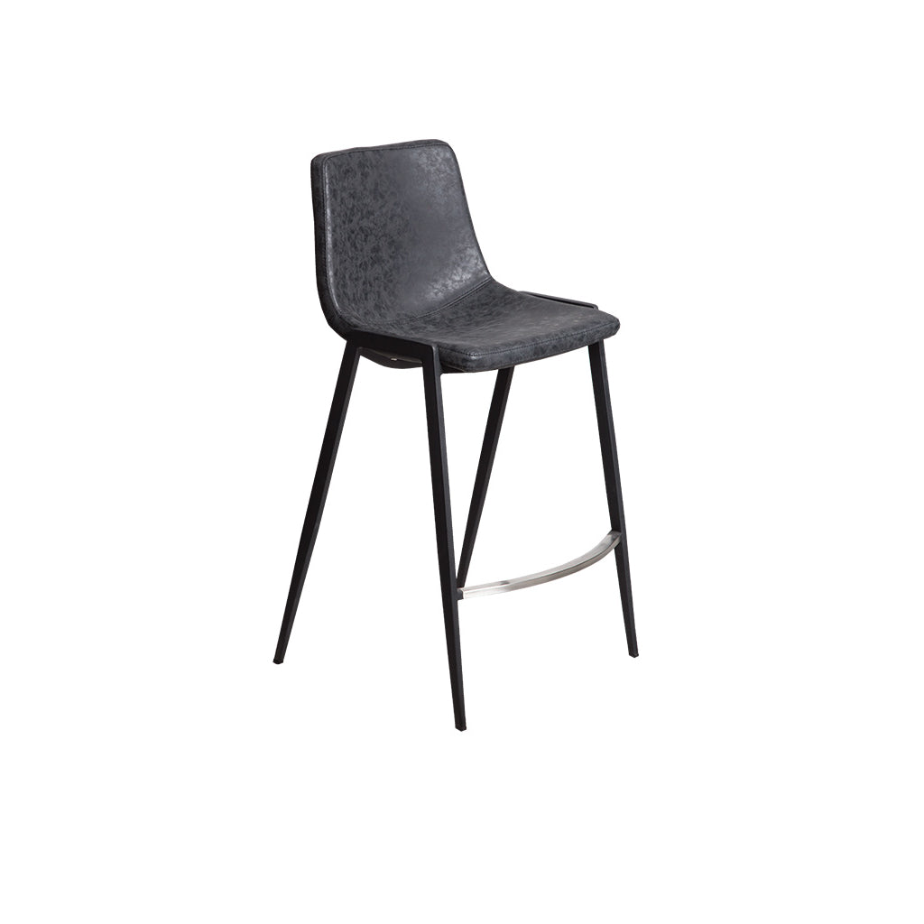 Hudson Counter Bar Stool (Black PU)