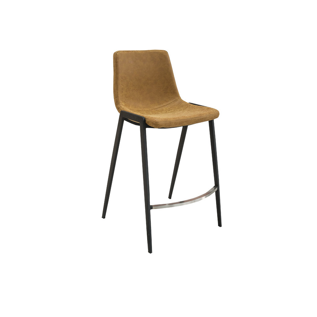 Hudson Counter Bar Stool (Rust PU)