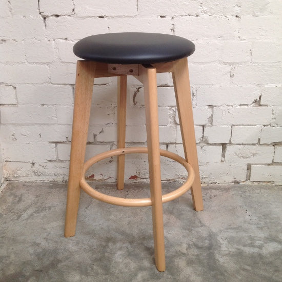 Sandy Counter Barstool - Natural (Black)