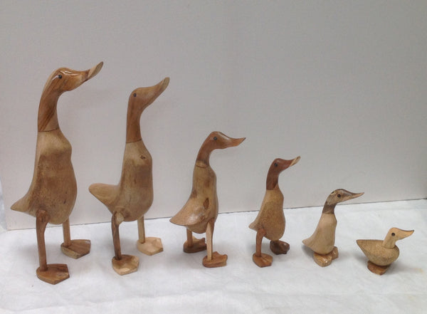 Wooden Ducks with Webbed Feet