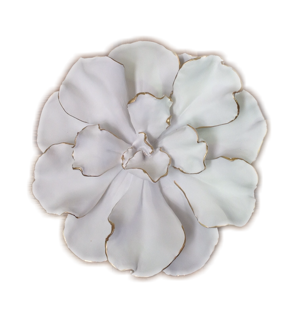 Orchid 3-D Wall Art (White)
