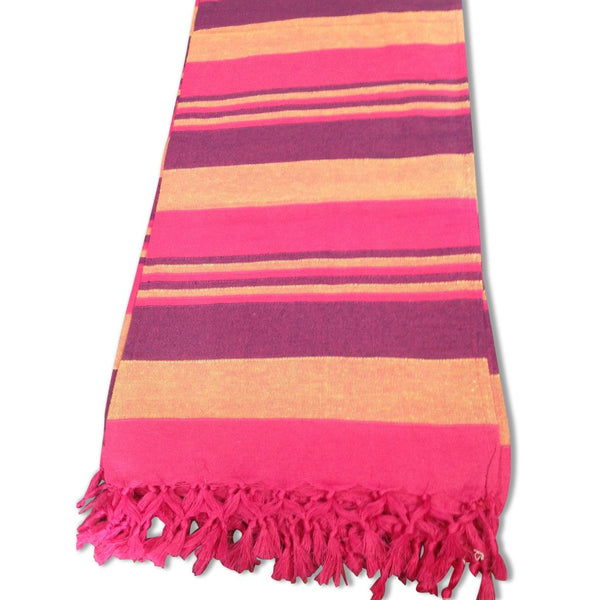 Cotton Throw Rug - Pink