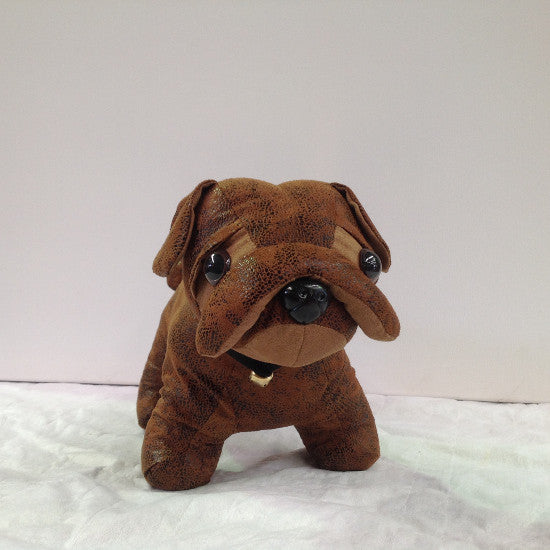 Chocolate Bulldog Puppy Doorstop
